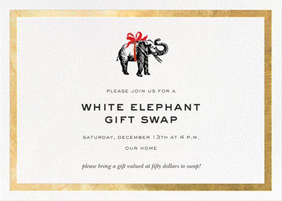 Wrapped Elephant - kate spade new york - Holiday invitations