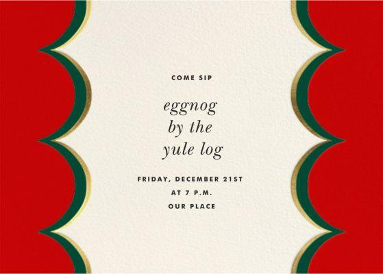 Intarsia Scallop - kate spade new york - Holiday invitations