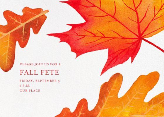 Falling Leaves - Paperless Post