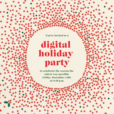Reverse Snow Globe (Square) - Cheree Berry Paper & Design - Holiday invitations