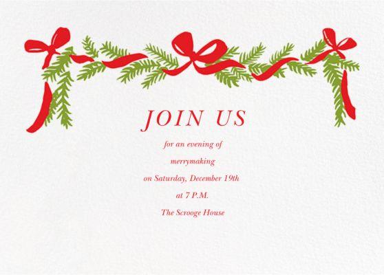 Pine Mantel (Invitation) - Linda and Harriett - Holiday invitations