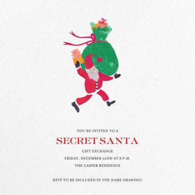 Santa Says Hello (Square) - Mr. Boddington's Studio - Holiday invitations