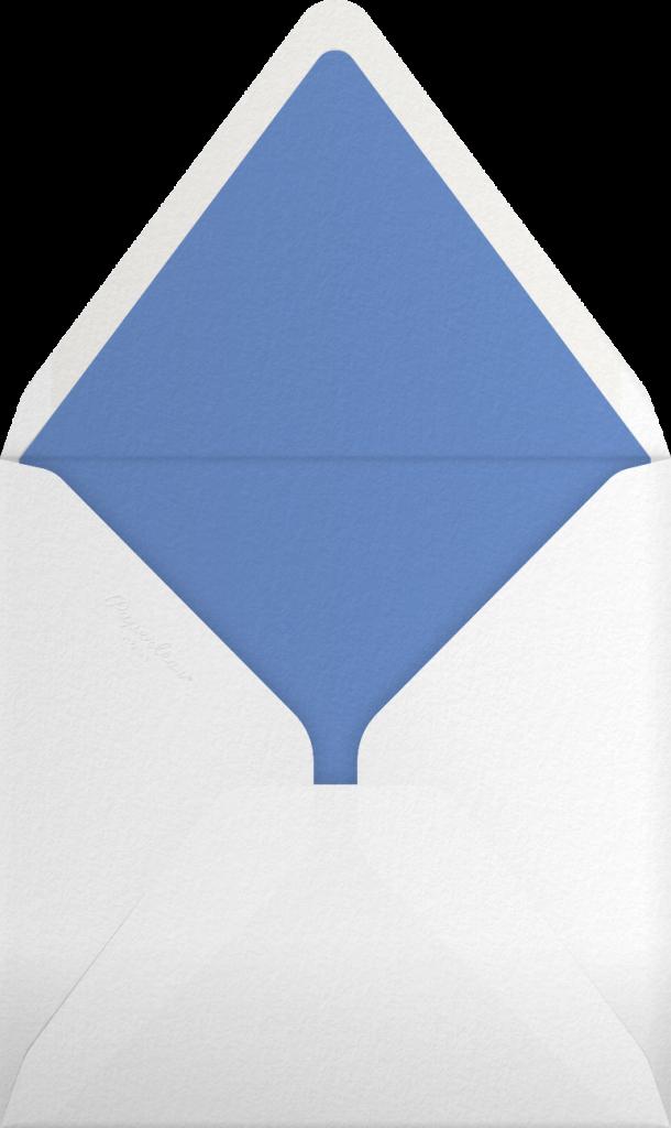 Gradient White Border - Blue - Paperless Post - Envelope