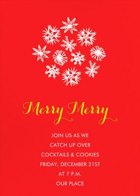 Merry Merry Snowflakes - Linda and Harriett - Company holiday party