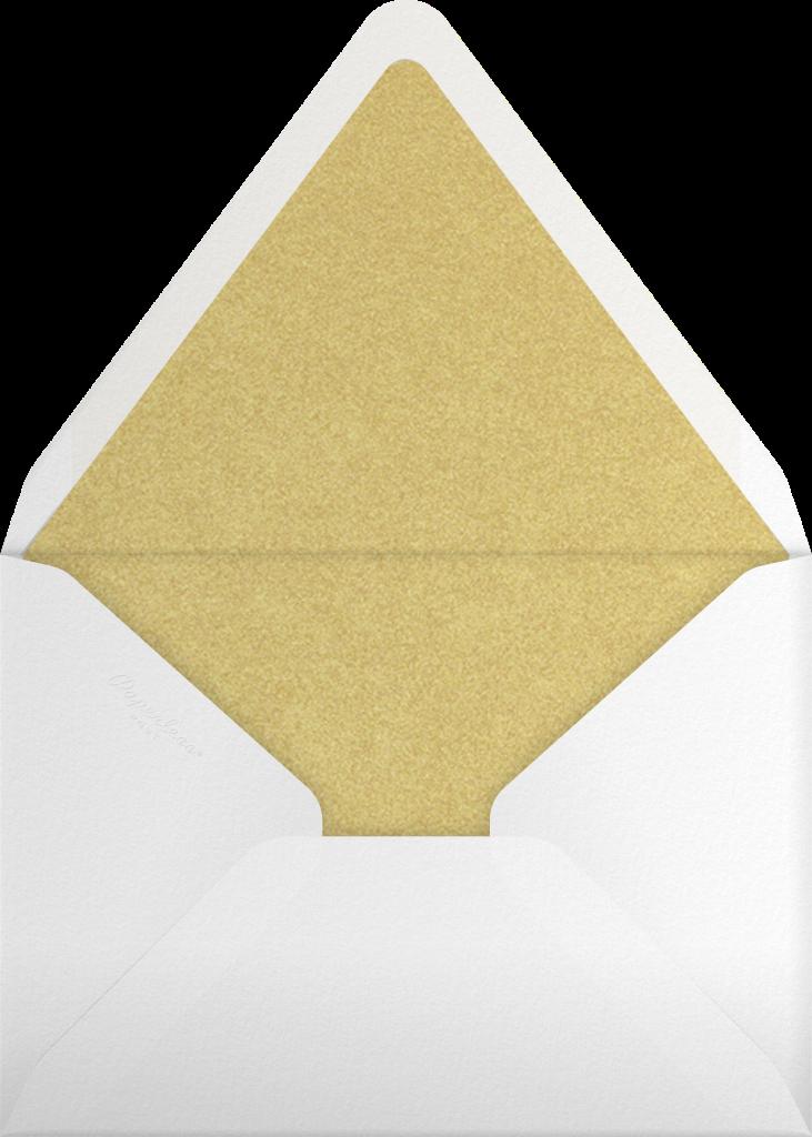 Cabochon Leaves - Blue - Oscar de la Renta - Envelope