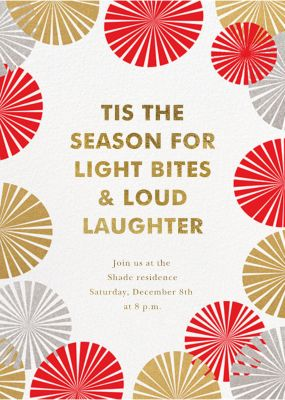 Party Fans - Paperless Post - Holiday invitations