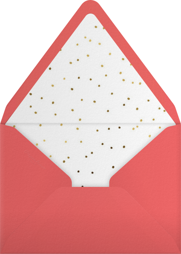 Hot Cuppa Holiday - Blossom - Paperless Post - Envelope