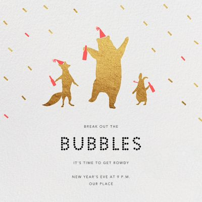 Party Animals - Paperless Post - New Year's Eve Invitations