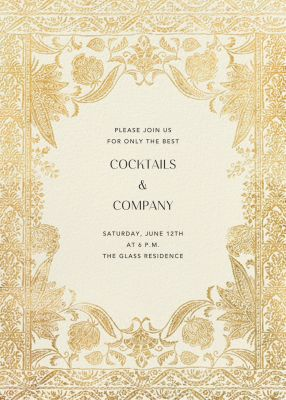 Hotel Udaipur - Anthropologie - Spring Party Invitations