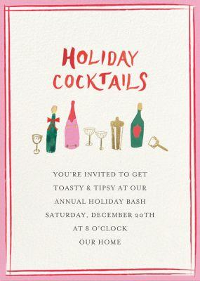 Shake Things Up - Mr. Boddington's Studio - Holiday invitations