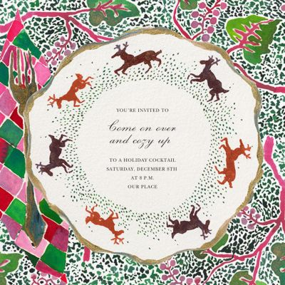 Stag Setting - Happy Menocal - Holiday invitations