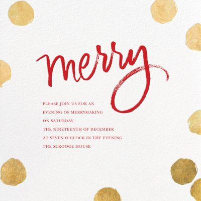 Big Dot Merriment - Sugar Paper - Holiday invitations