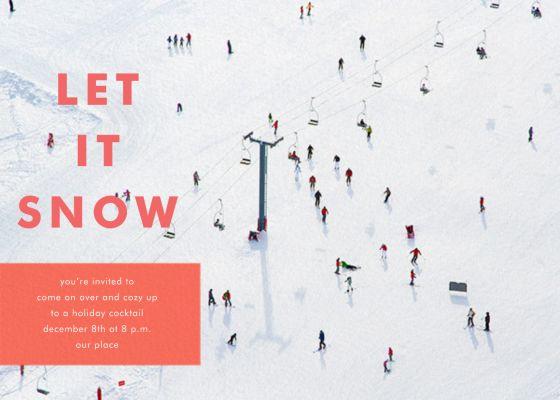 Skiers - Gray Malin - Holiday invitations