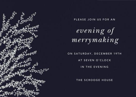 Forsythia Horizontal - Paperless Post - Holiday invitations