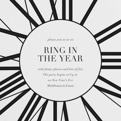 Longcase Clock - Paperless Post - New Year's Eve Invitations