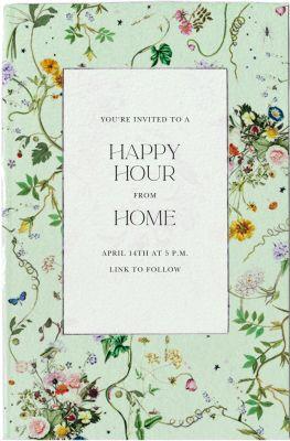 Celestial Flowers - Stephanie Fishwick - Spring Party Invitations
