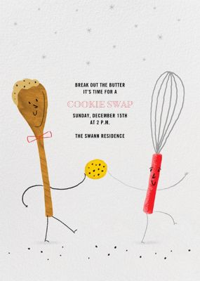 Share the Dough - Paperless Post - Cookie swap invitations