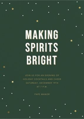 Bright Lights - Sugar Paper - Holiday invitations