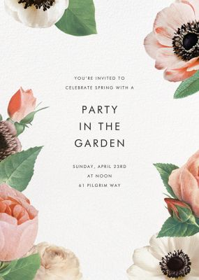 Floral Collage (Invitation) - kate spade new york