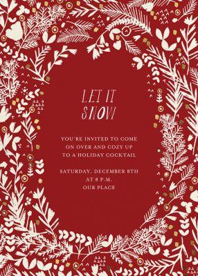 Pine and Dandy - Mr. Boddington's Studio - Holiday invitations