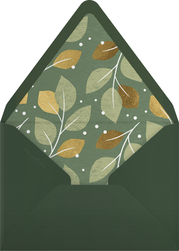Gathered Leaves - Palm - Paperless Post - Envelope