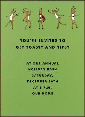 Reindeer Gala Tall - Paperless Post - Holiday invitations