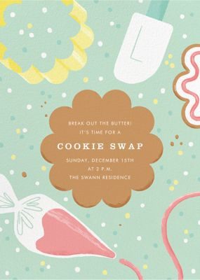 Decorator's Showcase - Paperless Post - Cookie swap invitations
