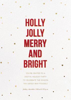 Holly Night - Sugar Paper - Holiday invitations