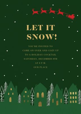 Hoofs over Roofs - Paperless Post - Winter Party Invitations
