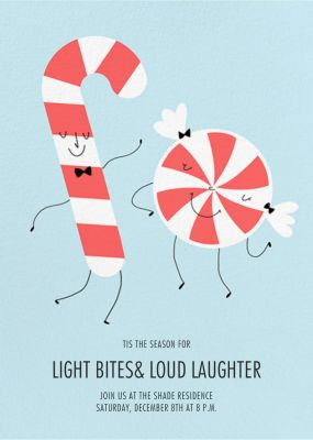 Candy Cane Boogie - Paperless Post - Holiday invitations