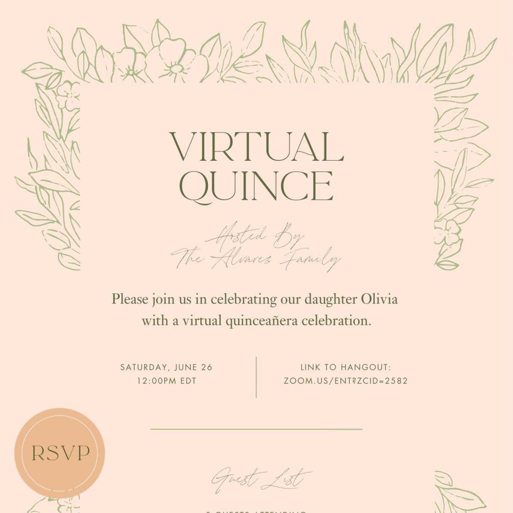 Quince Bouquet