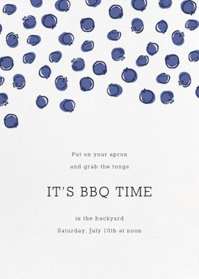 Blueberries - Paperless Post - Fruity invitations