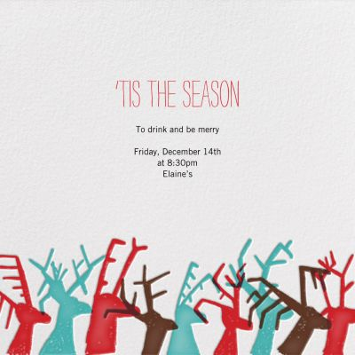 Dasher's Entourage - Mr. Boddington's Studio - Holiday invitations