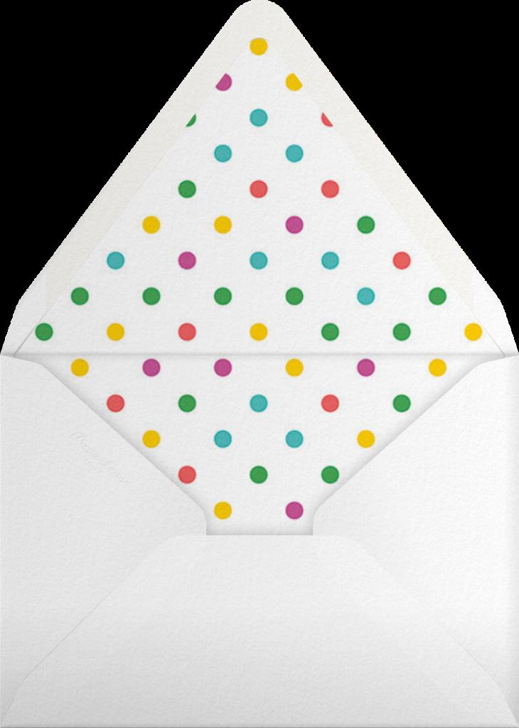 Paint Roller (Blue on Ivory) - Paperless Post - Envelope