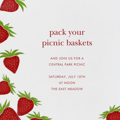 Strawberries (Square) - Paperless Post