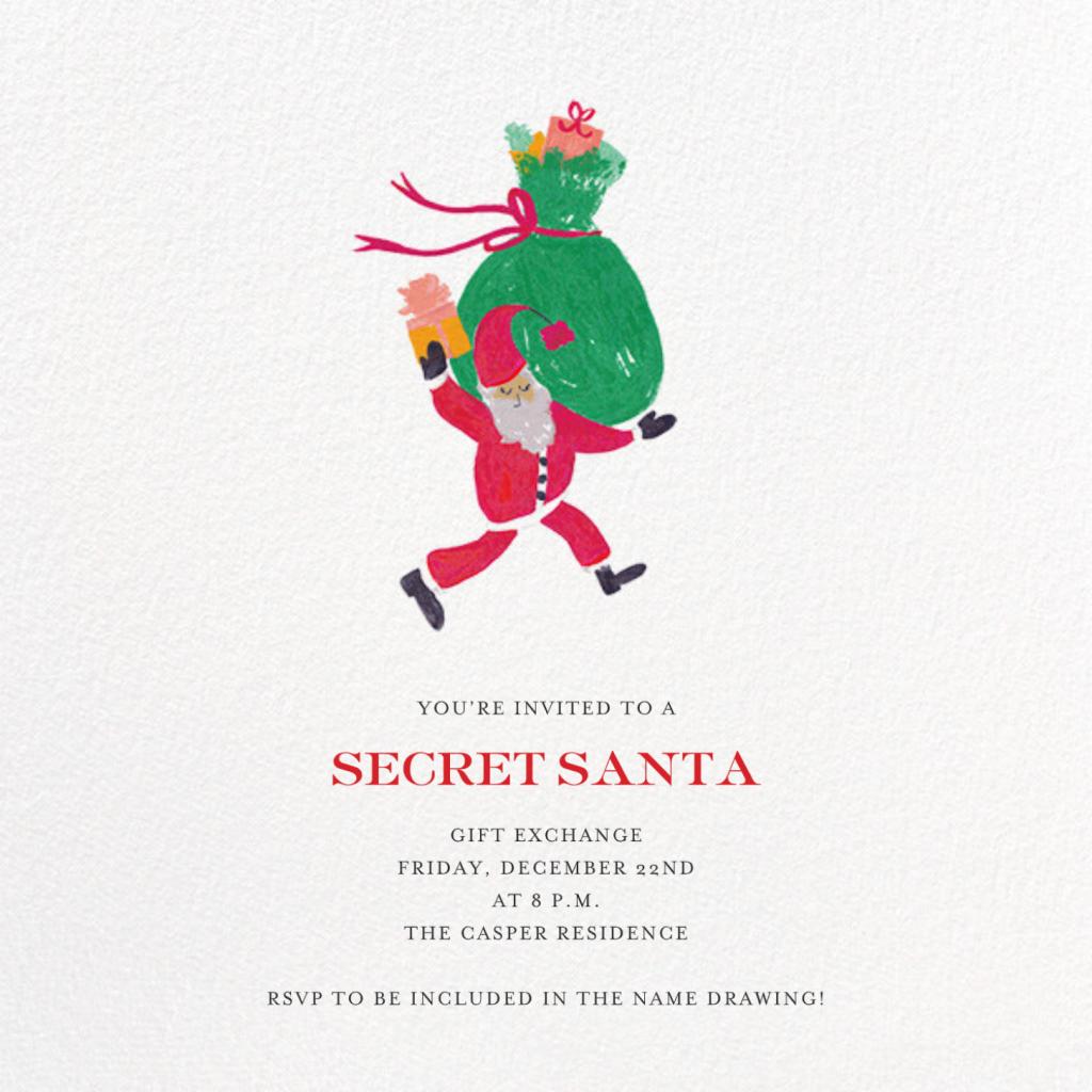 Santa Says Hello (Square) - Medium - Mr. Boddington's Studio