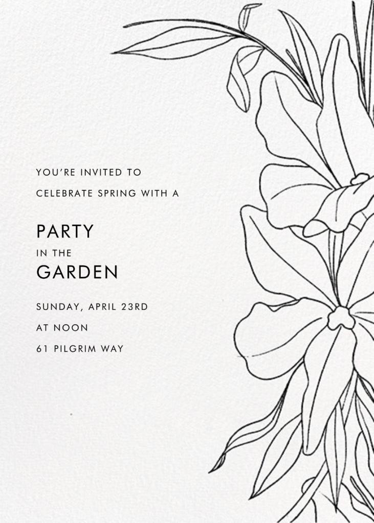 Aubrey (Invitation) - Black  - Paperless Post