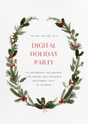 Fleurs de Noel - Paperless Post - Holiday invitations