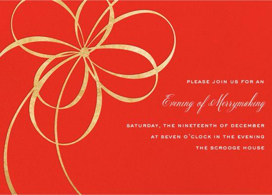 Belle Boulevard Invite - kate spade new york - Holiday invitations