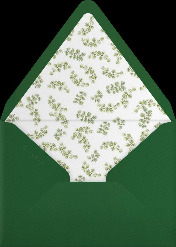 Velvet Christmas Lights - Paperless Post - Envelope