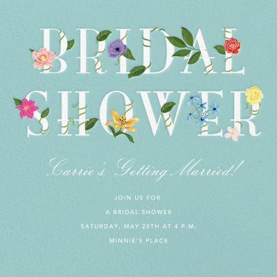 Floral Letters - Paper Source