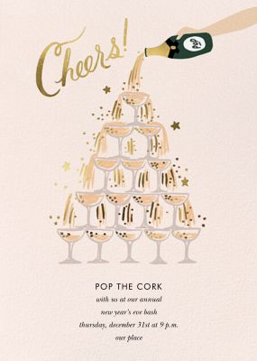 Champagne Tower - Rifle Paper Co. - New Year's Eve Invitations