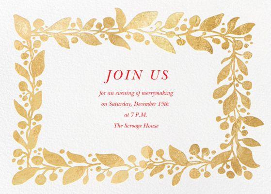 Hedera (Invitation) - Linda and Harriett - Holiday invitations