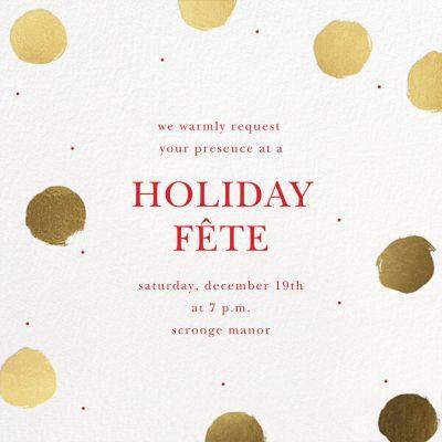 Painted Dots - Sugar Paper - Holiday invitations