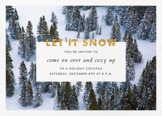 Winter Trees - Gray Malin - Holiday invitations