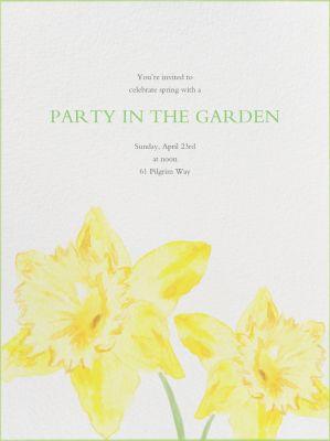 Watercolor Daffodils - Paperless Post