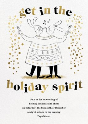 Sweater Twinset - Paperless Post - Holiday invitations
