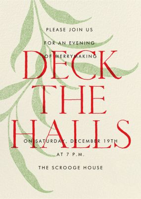 Red and Greenery - Paperless Post - Holiday invitations