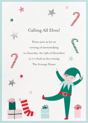 Busy Elf - Meri Meri - Holiday invitations