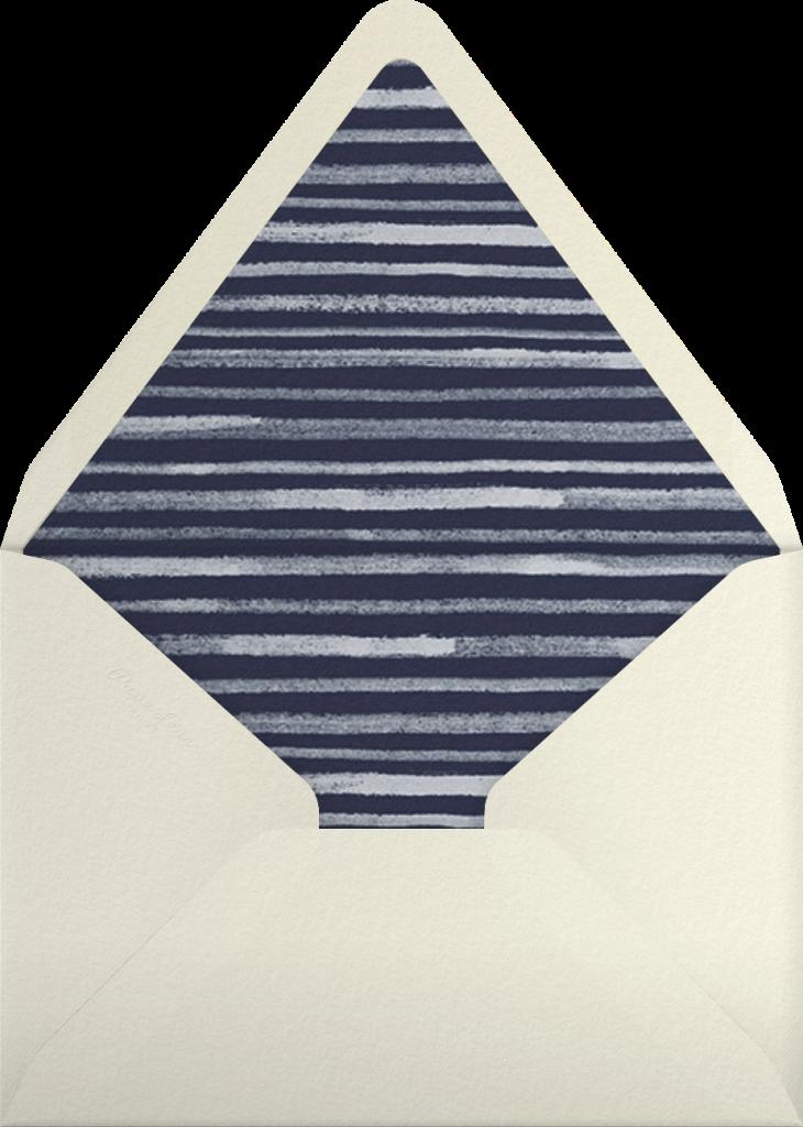 Wood Grain Color Block - Blue - Paperless Post - Envelope